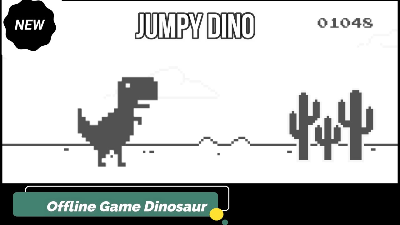 Dinosaur in Chrome offline game | There is No Internet ...