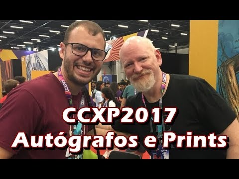 CCXP2017 - Prints e autógrafos dos artistas internacionais - Artists Alley