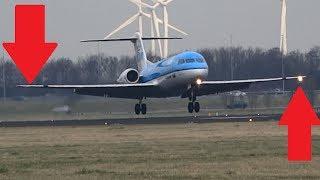 Landing light failure KLM Fokker-70 (landing 18R)