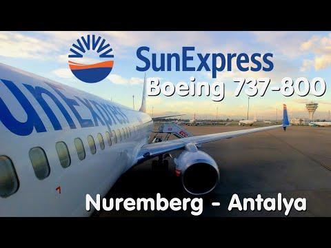FLIGHT REPORT   SunExpress   Nuremberg - Antalya   Boeing 737-800 Sky Interior   Economy
