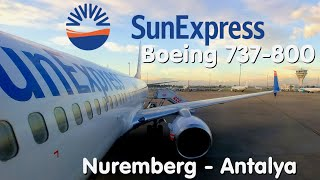 ✈FLIGHT REPORT | SunExpress | Nuremberg - Antalya | Boeing 737-800 Sky Interior | Economy