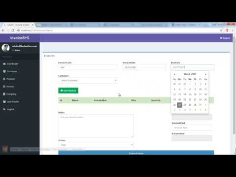 Easy invoice generator with ASP NET MVC 5 Entity framework