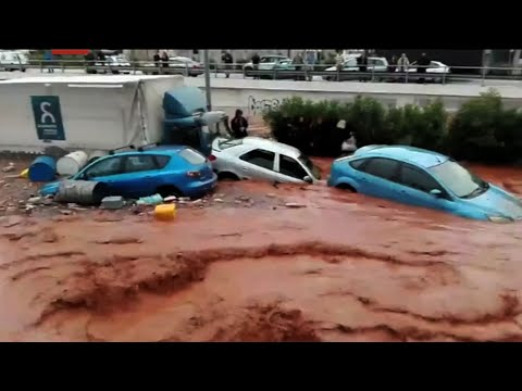 Flash Floods Near Athens Leave Several Dead