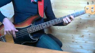 A classic on Precision Bass, 40 years old, but with a half-shuffle-...