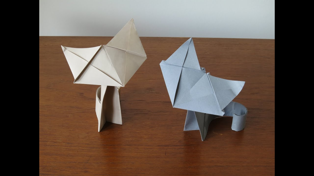 Fluffy - Origami Cat Instructions - YouTube - photo#10
