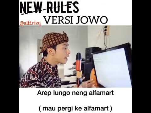 NEW RULES Dua Lipa (Parody Cover Jawa) | Alif Rizky