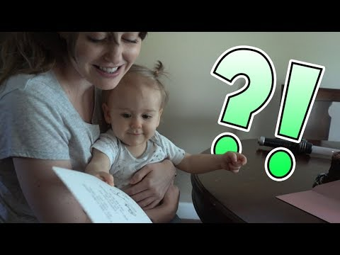 Dad Suprises Mom! Adorable Baby Gender Reveal