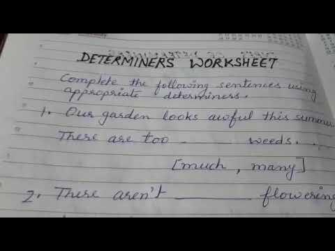 Determiners Worksheet