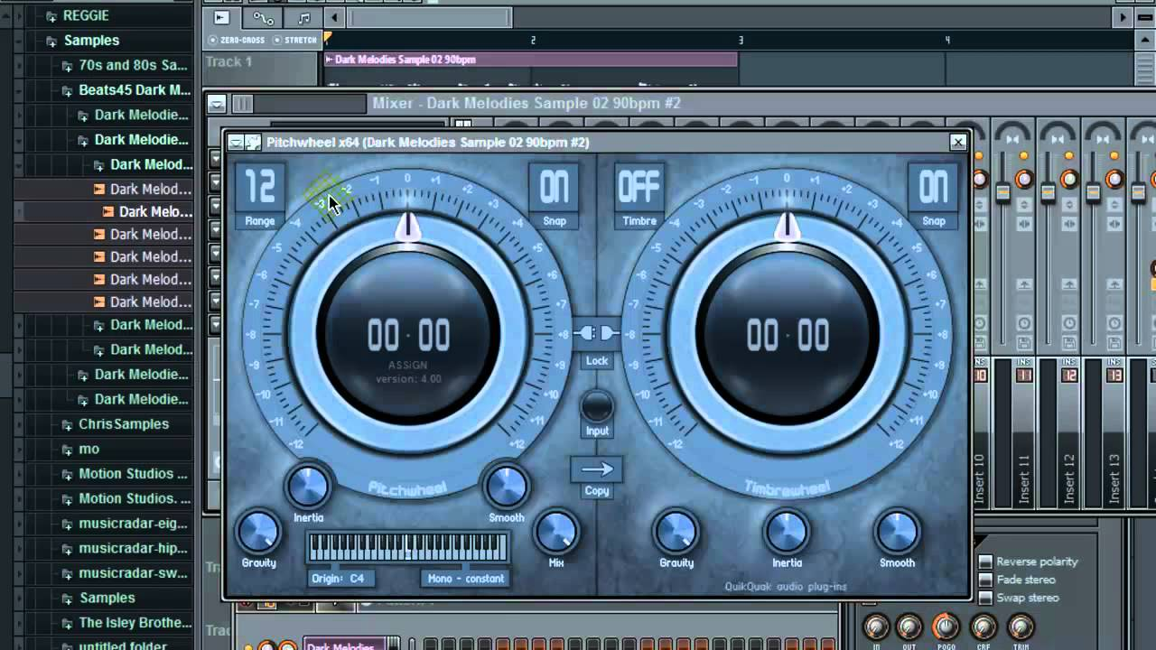 Sampling Techniques: FL STUDIO 10 (Time Stretching and Shifting ...