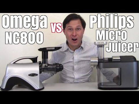 Philips Micro Juicer vs Omega NC800 Comparison Review