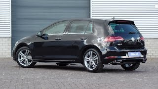 Volkswagen NEW Golf R-line 2018 Deep Black 17 inch Sebring walk around & detail inside