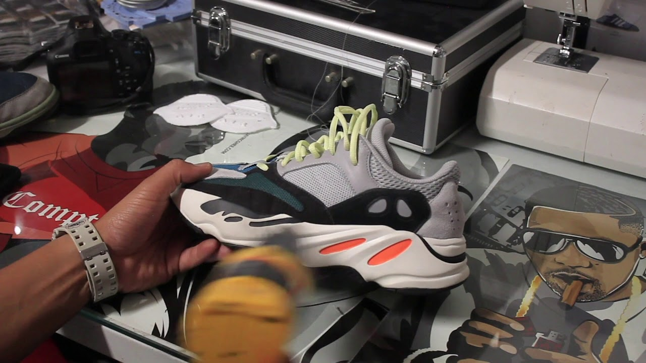 f6b3ccd79798f Yeezy 700 Boost WaveRunner De-Creasing and Cleaning - YouTube