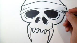 Como dibujar Cráneo de Demonio