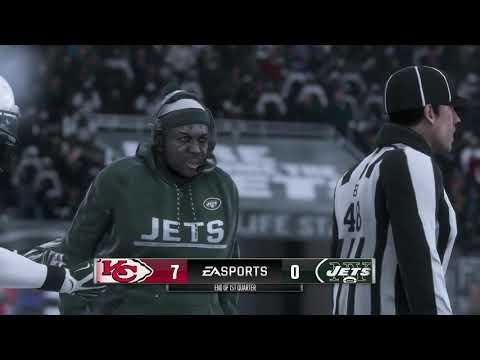 Madden 18 Gameplay   Kansas City Chiefs vs. New York Jets   A Snowy Night!
