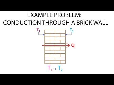 Heat Transfer L1 p5 - Example Problem - Conduction