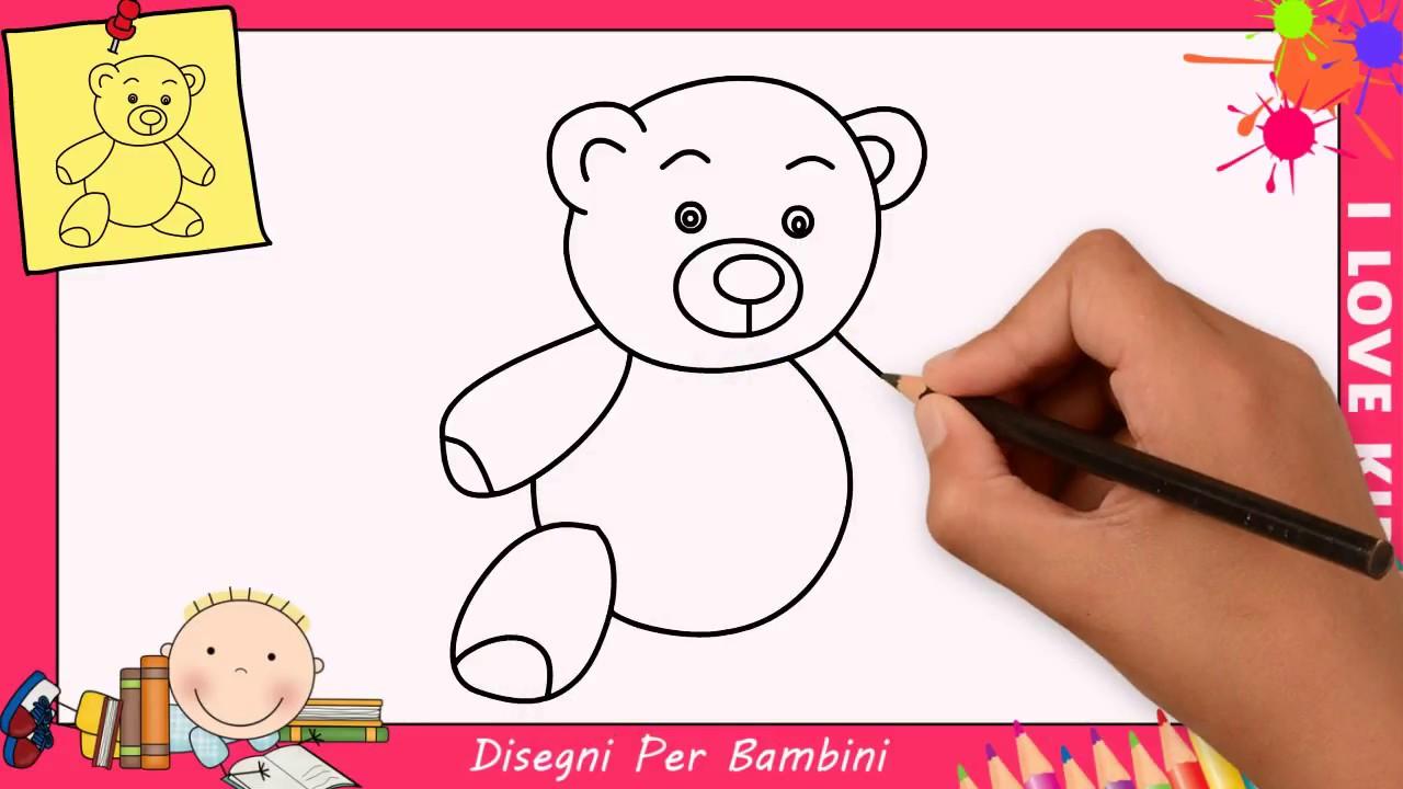 Come disegnare un orsetto facile passo per passo per - Immagini di orsi da colorare in ...