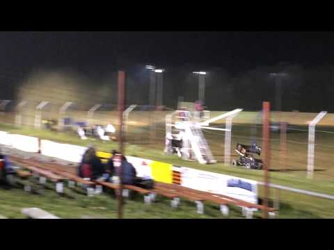 Dog hollow Speedway 305 Sprint Car Feature Crash