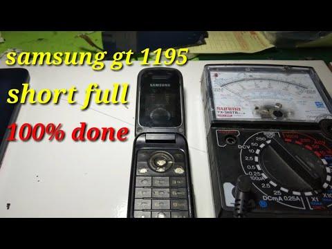 Samsung Gt E1195 Matot Karena Short Full 100 Done Youtube