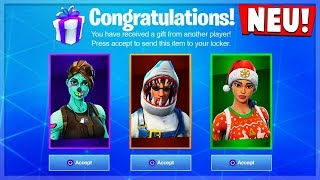 *NEW* Open Gifts in Season5 (How to Give Skins) || Fortnite Battle Royale