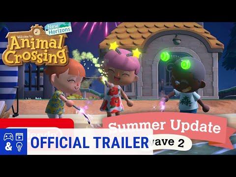 Animal Crossing New Horizons Summer Update – Wave 2 Trailer
