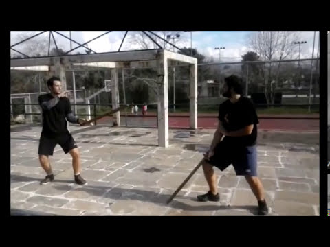 Byzantine Swordsmanship drills from the HELLENIC ACADEMY OF HISTORICAL EUROPEAN MARTIAL ARTS
