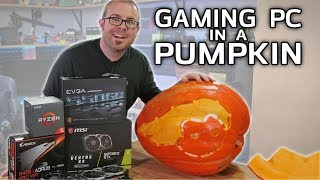 Building a Gaming PC in a GIANT PUMPKIN 🎃