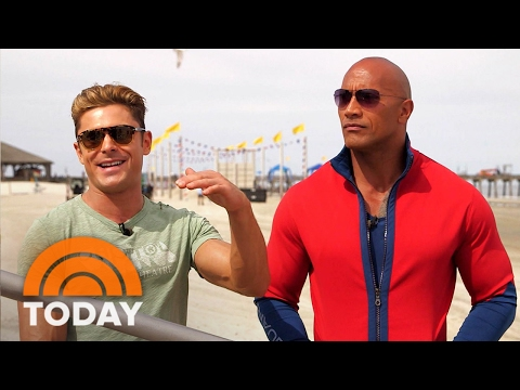 Join Dwayne 'The Rock' Johnson, Zac Efron On The Set Of 'Baywatch' Reboot | TODAY