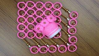 Flower Vase Making Idea - Woolen art and craft - Best reuse ideas - Waste Plastic Bottle Crafts Idea