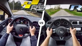 VW Polo R vs Renault Clio RS Trophy POV ACCELERATION & SOUND by AutoTopNL