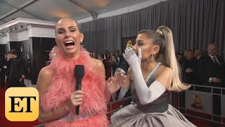 Watch Ariana Grande Accidentally Curse MULTIPLE TIMES During GRAMMYs Interview