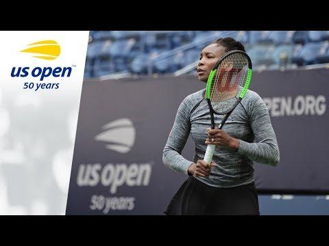 Venus Williams Practices At The 2018 US Open