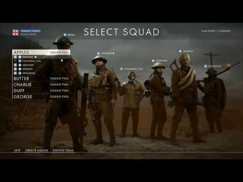 Battlefield 1 - Conquest match 45 (hacker ruins) - support - 1080p 60fps PC - No commentary