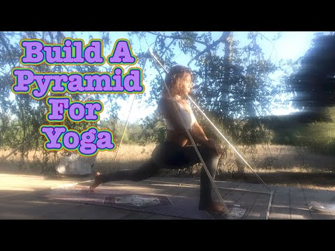 How to Build a large wooden Pyramid for Healing, Mediation and Yoga 💜