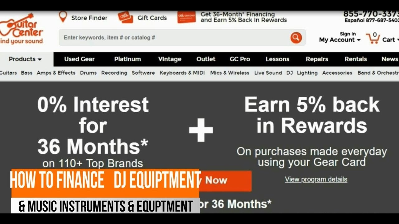 how to finance dj music equipment with guitar center credit card youtube. Black Bedroom Furniture Sets. Home Design Ideas