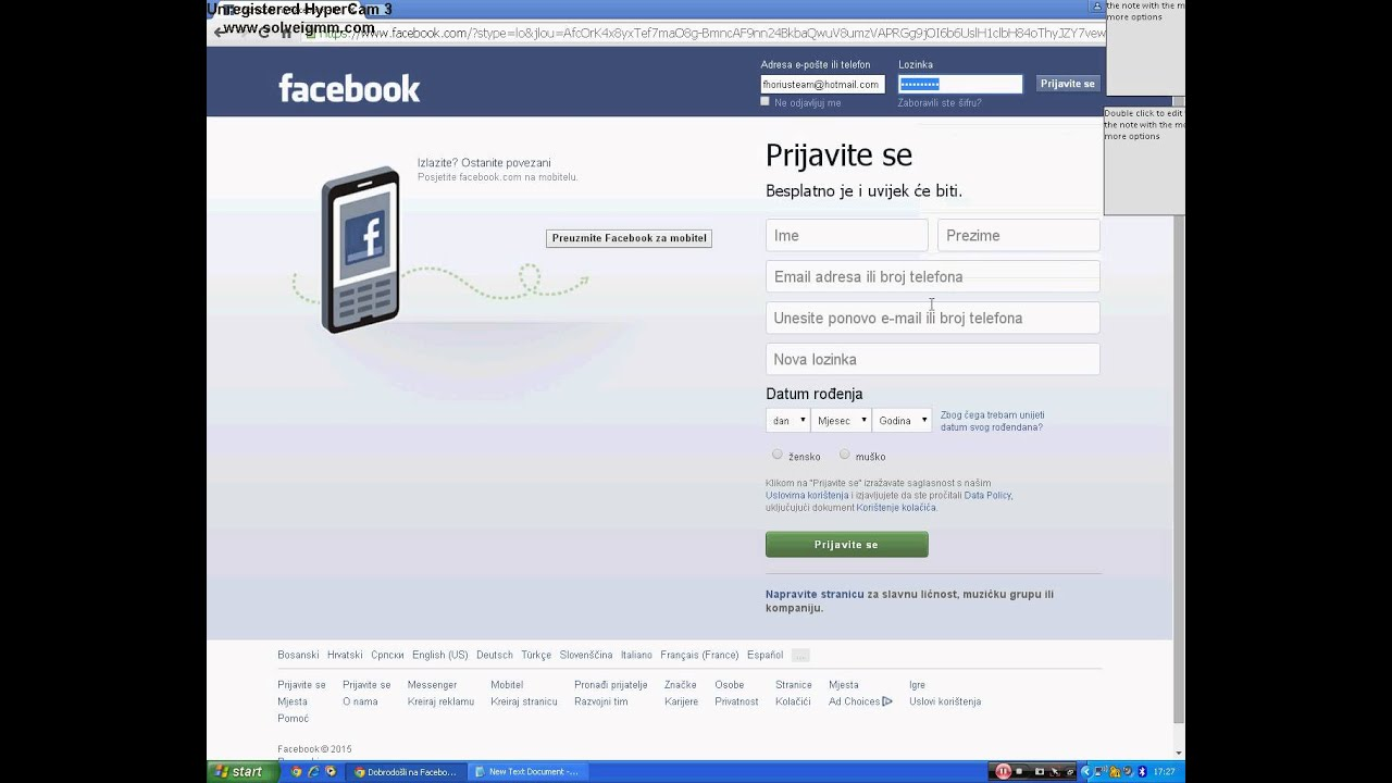 Kako hakovati Facebook profil bez programa - YouTube