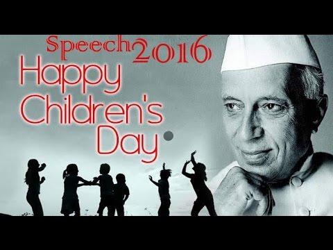 Best Speech on Children's Day (Bal Diwas)-14 November 2016-Hindi