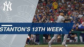 Giancarlo Stanton's 5-hit game highlights his week