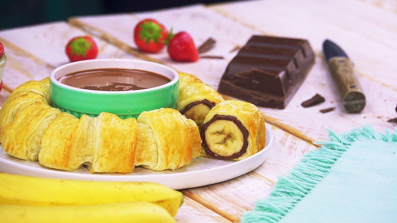 Бананы нутелла в духовке