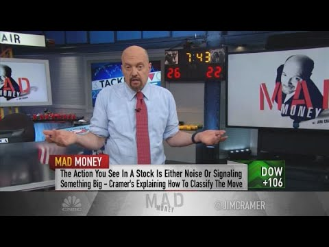 Jim Cramer: Look for a counterintuitive move when spotting a stock's peak