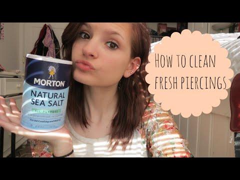 How to Clean Fresh Piercings | Alyssa Nicole