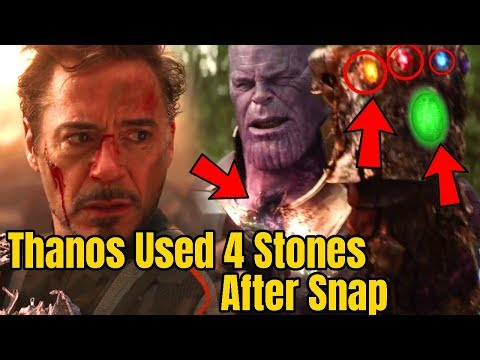 Thanos used 4 Infinity Stones After Snap in Avengers Infinity War