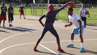 Spiderman 1v1 Ballin' in The HOOD.. (UNSEEN 1v1 Raw Footage)