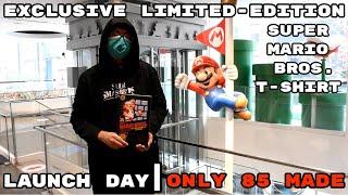 Exclusive Limited-Edition Super Mario Bros. T-shirt At Nintendo NY [Super Mario 35th Anniversary]