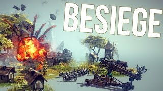 Besiege Gameplay Part 1 - DESTRUCTION CREATION! - Besiege First Look Impressions