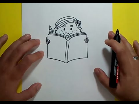 Como Dibujar A Un Niño Leyendo Paso A Paso 2 How To Draw A Child Reading 2