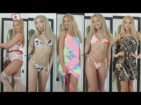 HUGE TRY ON HAUL ~ Bikinis, Dresses, Lingerie & more (SHEIN) from YouTube · Duration:  17 minutes 25 seconds