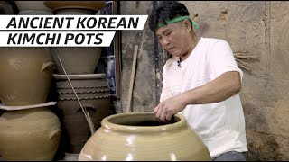 How a Master Potter Makes Giant Kimchi Pots Using the Traditional Method - Handmade