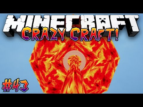 """NUCLEAR WEAPON MOD!"" - CRAZY CRAFT (MINECRAFT MODDED SURVIVAL) - #43"