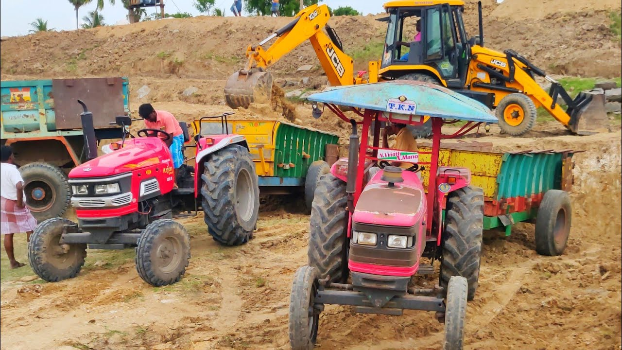 Mahindra 555 di power plus tractor with fully loaded trolley | John Deere tractor power | CFV