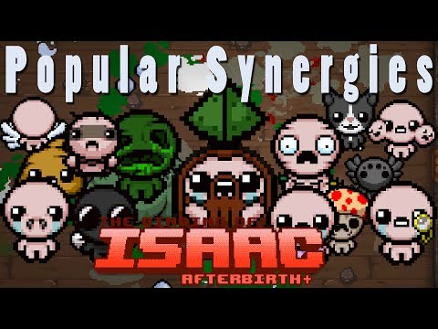 The Binding of Isaac Afterbirth Plus | D4 All Transformations! | Popular Synergies!